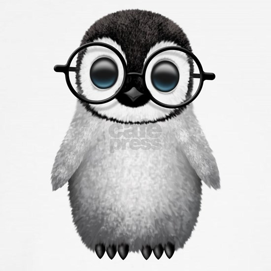 Cute Baby Penguin Wearing Glasses