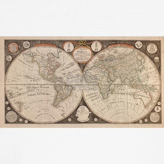 Vintage Map of The World (1799) 5