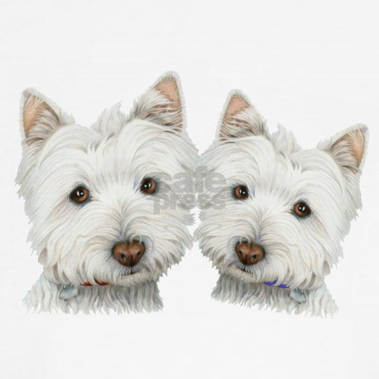 Two Cute West Highland White Dogs