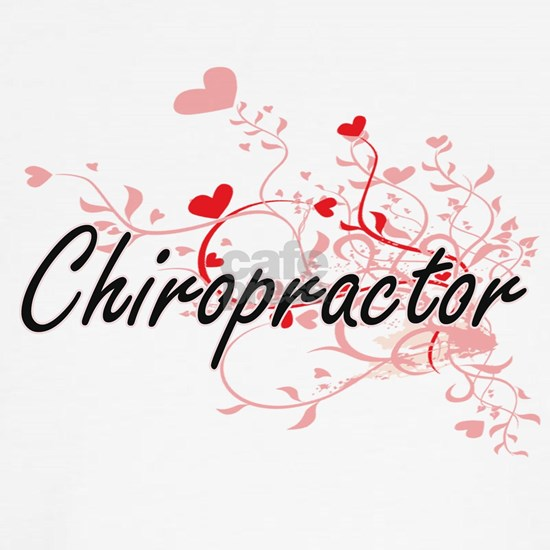 Chiropractor Artistic Job Design with Hearts