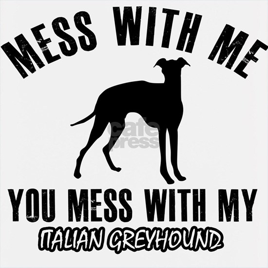 Mess with me you mess with my Italian Greyhound