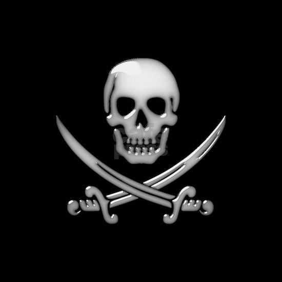 Glassy Skull and Cross Swords