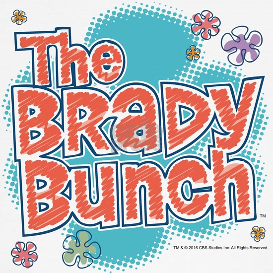 The Brady Bunch Logo With Flowers