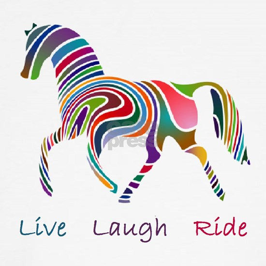 horse rainbow_horselarge live love laugh