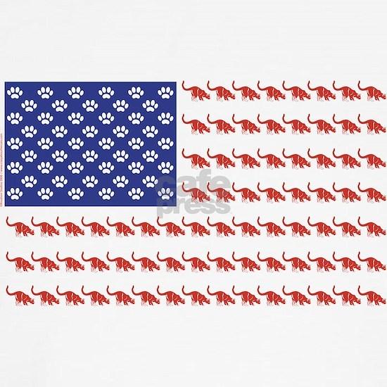 Patriotic Cat Flag