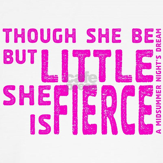 She is Fierce - Stamped Pink