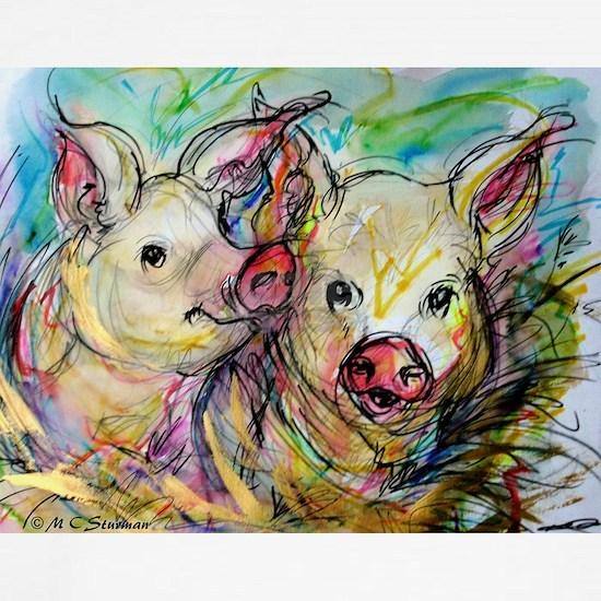 piglets, pig pair