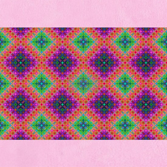 Green Pink and Purple Checkered Pattern