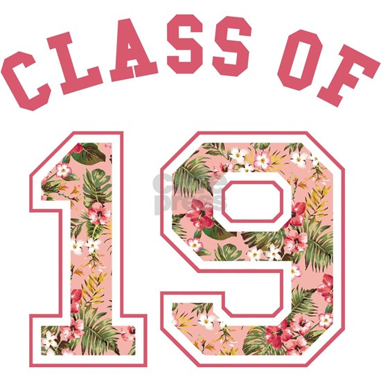 Class of 19 Floral Pink