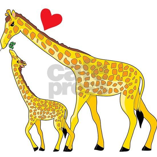 giraffe and baby cp wht