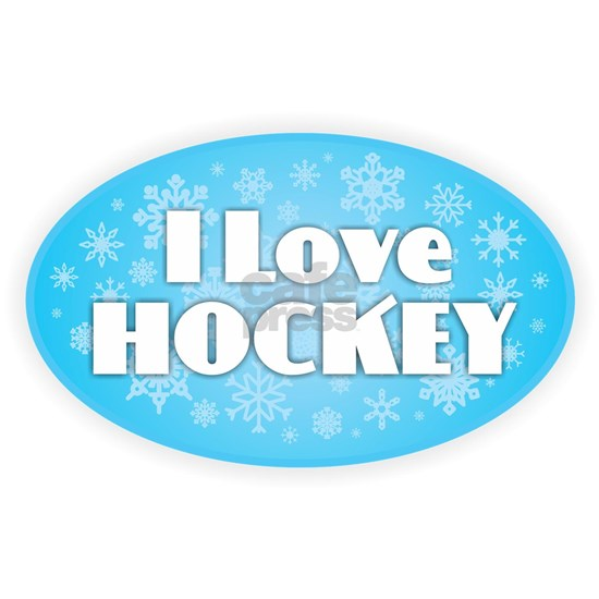I Love Hockey - Snowflakes