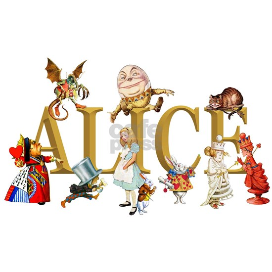 Alice in Wonderland and Friends - Gold