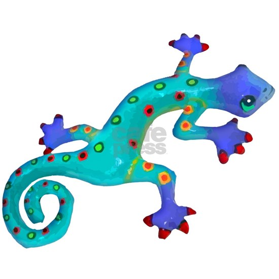 Turquoise Lizard with Red Toes