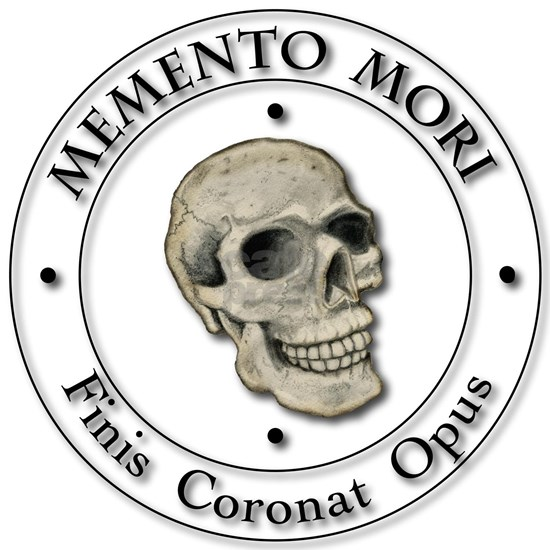 Memento Mori black Letter