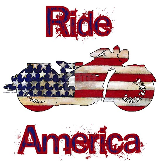 Flag-painted motorcycle-RIDE-1