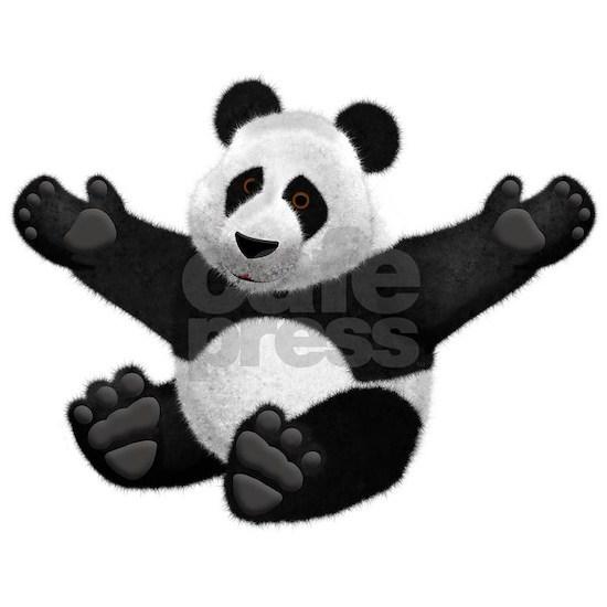 3D Fluffy Panda Bear