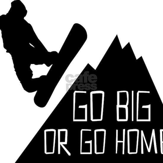 Snowboarder Go Big