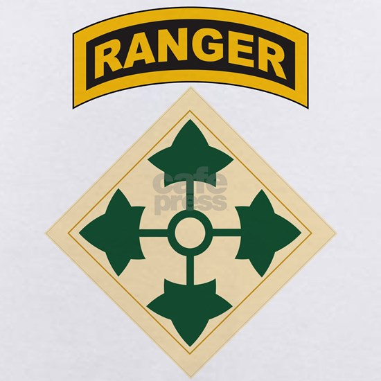 4th Infantry Division with Ranger Tab