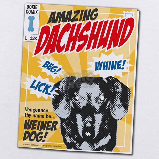 Dachshund comics black