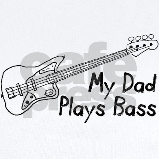 Dad Plays Bass Baby Light Bodysuit Dad Plays Bass Infant