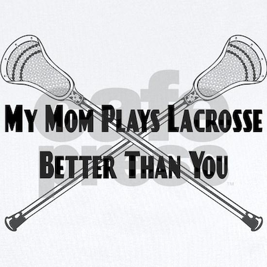 Lacrosse_MyMomPlaysBetterThanYou_blk Baby Light Bodysuit