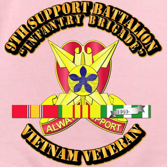 Army - 9th Support Battalion w SVC Ribbon