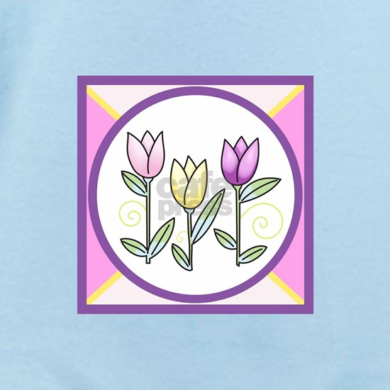STAINED GLASS TULIP DESIGN