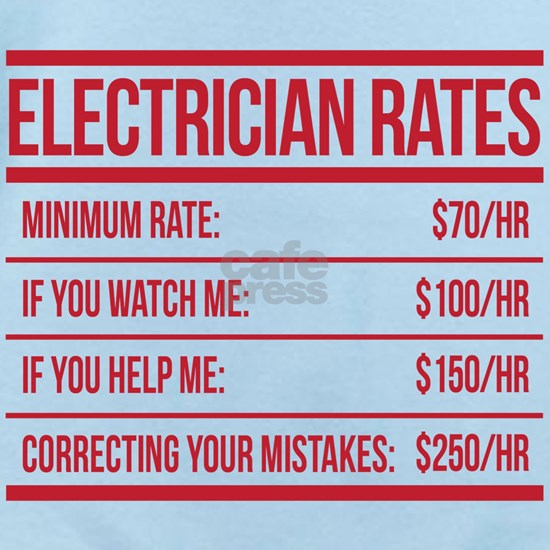 Electrician Rates Humor