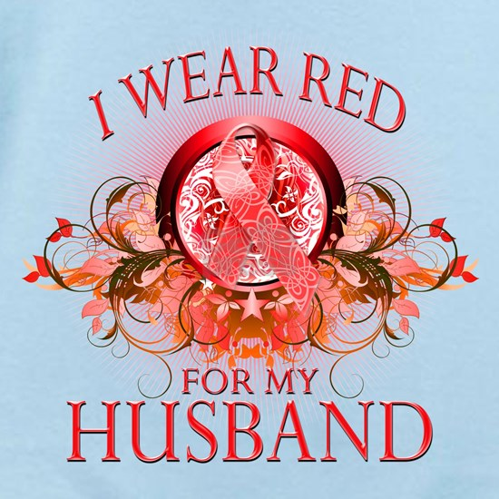 I Wear Red for my Husband (floral)