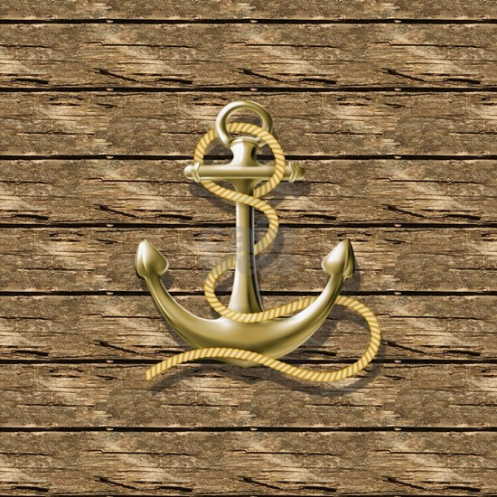 nautical beach wood anchor