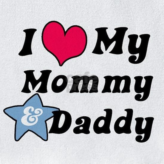 I Love My Mommy And Daddy Cotton Baby Bib I Love My Mommy And Daddy Bib By Magarmor Cafepress