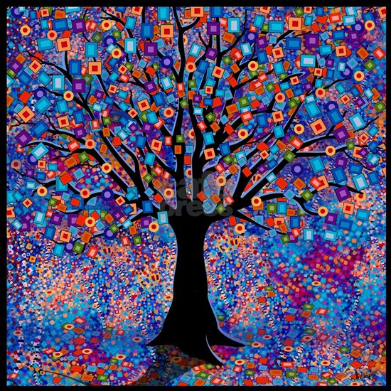 Colorful Tree of Life Art Print