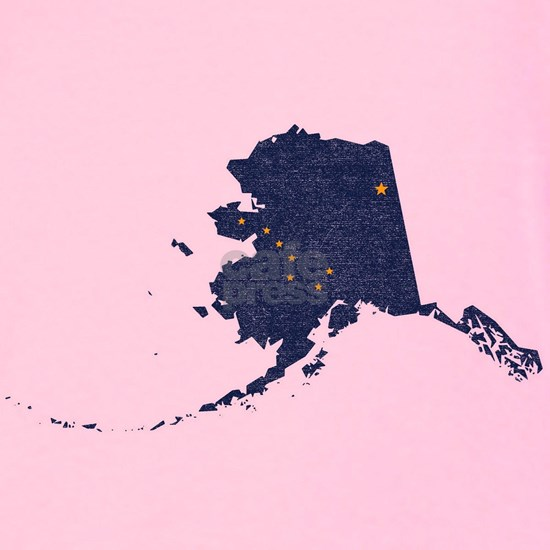 Alaska State Flag Vintage Outline