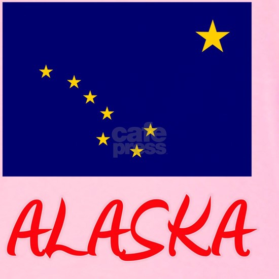 Alaska Flag Artistic Red Design