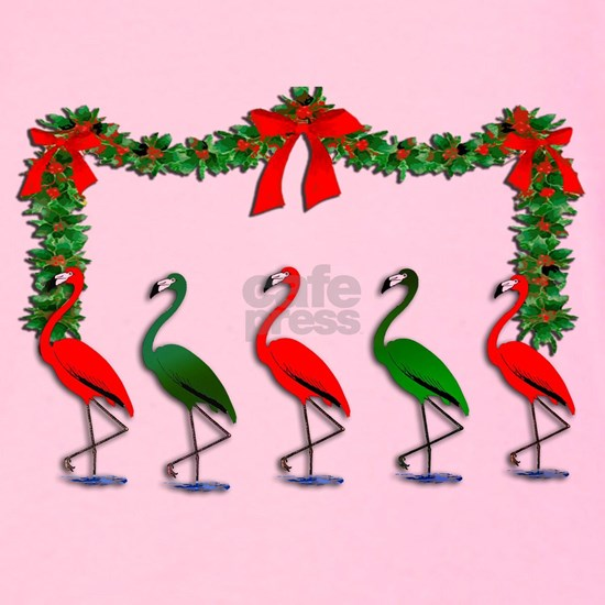 Dancing Xmas Flamingos
