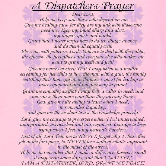 DISPATCHERS PRAYER