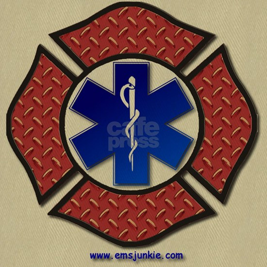 Steel Plate Maltese Cross and Star of Life