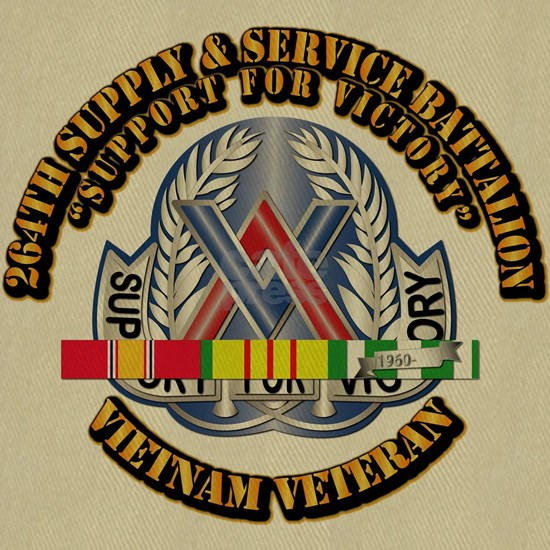 Army - 264th Supply  Service Bn w SVC Ribbon