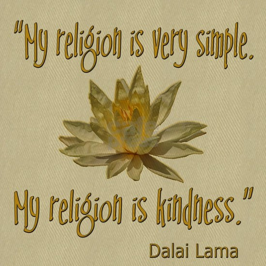 MY RELIGION IS KINDNESS DALAI LAMA QUOTE