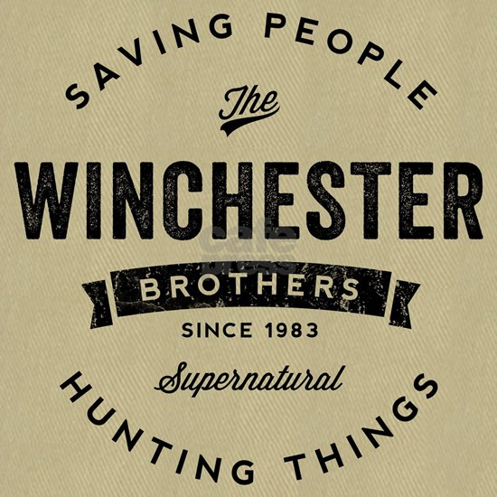 SUPERNATURAL Winchester Bros black