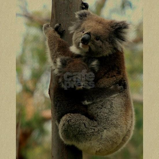 Australian Koala Mother and Baby