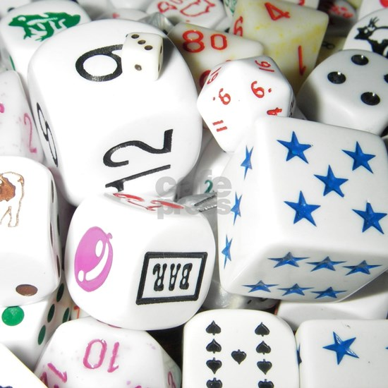 Lets Roll - White Dice