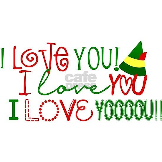 I Love You Elf Movie Quote Rectangular Canvas Pill