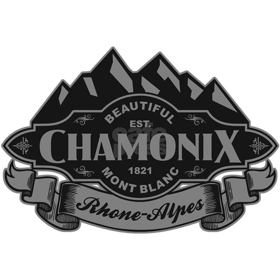 Chamonix Mountain Emblem Black Silver
