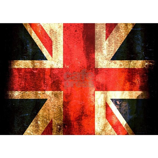 British UK Flag Grunge Vintage