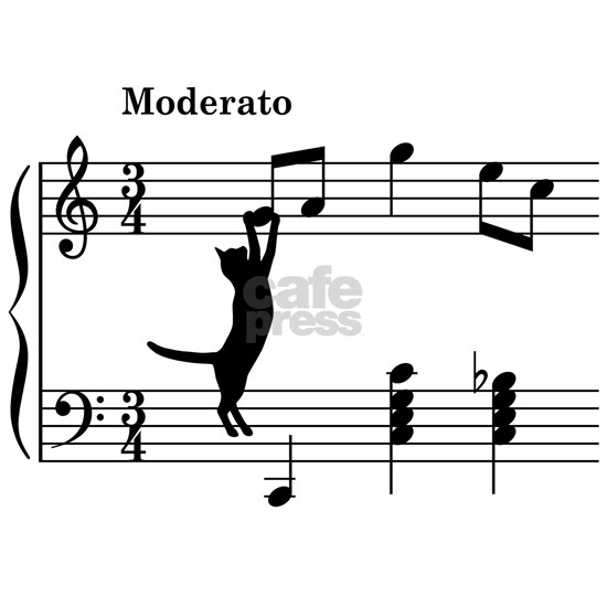Cat Jumping to Note