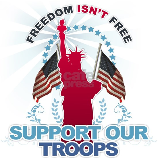 freedom isnt free: support our troops