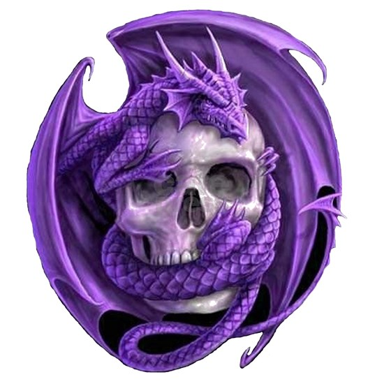 Dargon and friend transparent purple