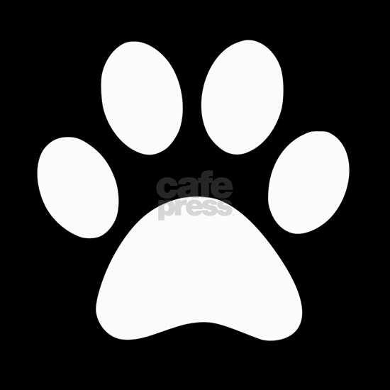 Black and white Paw print