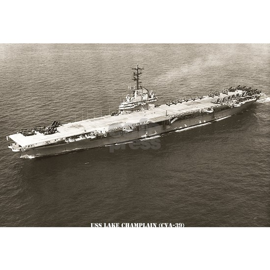 uss lake champlain cva framed panel print